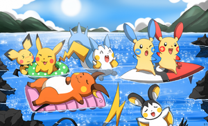 Swimming PKMN by Endless-Rainfall