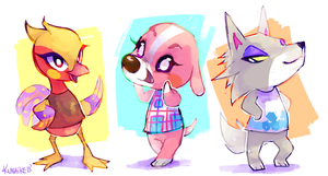 some villagers by Kunaike