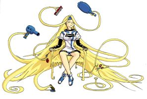 Millia's self-care hair v2 by ranma-tim