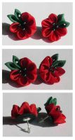 Poppies Gone Gothic by Arleen
