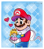 .:Keeping you warm:. by CloTheMarioLover