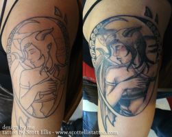 Hailfall - actual tattoo by theDeathspell