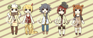 Pokemon Gijinka Adoptables [open! 150 to 300pts] by LungwortTea