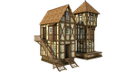 Medieval House 1c | PNG by fumar-porros