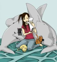 Cats and Dolphins by SakuraBlossom4