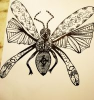 When art goes crazy, bug style. by WolfyKaia