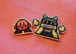 Magolor + Kirby Cross Stitch by StormingBomber