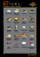 Some food icons ... by zi-