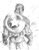 Cap's Back - quick sketch by JasonMetcalf