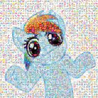 Rainbow Dash Shrug Mosaic by Lacon-te