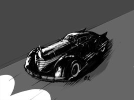 Batmobile Noir by MK01