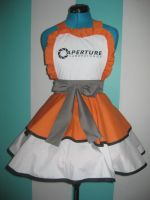 Chell - Portal - Inspired Cosplay Pinafore by DarlingArmy