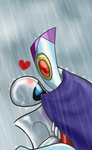 Robots in the Rain by PurpleRAGE9205