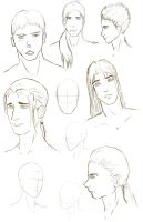 Male Face Practice by NewCityScum