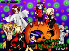 A Halloween together!! by x-Sneering-Blaze-x