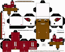 Larry Fitzgerald Cardinals Cubee by etchings13