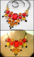 Floating Fire Gem Necklace by Natalie526