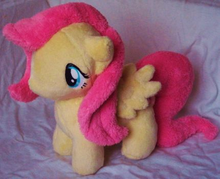 Fluttershy Plush by JyamiTeK
