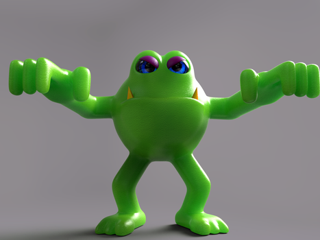 Zbrush Doodle Day 699 - Frog creature by UnexpectedToy