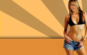 Holly Valance Bikini Wallpaper by mr-moon-v5