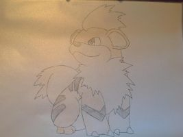 Pokemon - Growlithe by dewildbunbun