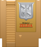 The Legend of Zelda Gold Cartridge by BLUEamnesiac