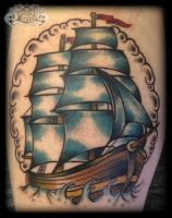 Galleon by state-of-art-tattoo