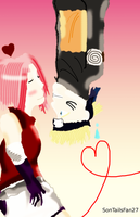 NaruSaku - Almost Kiss... by TheElementOfMagic