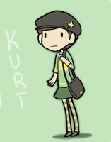Kurt in a skirt by Super-Cute