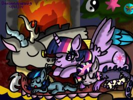 Happy Hearth's Warming Eve:Disolight Contest Entry by Dansenhedgehog