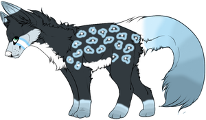 Wolf adoptable by Skystorm1001