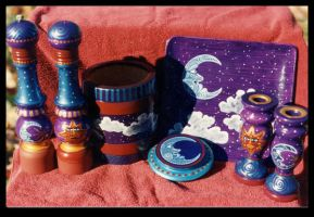 Celestial Kitchen Set by ReincarnationsDotCom