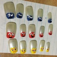 Sesame Street Nails by MikariStar