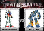 Death Battle RX-78-2 Gundam vs MEGAS XLR by Gatlinggundemon9