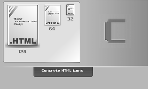 Concrete.HTML.Icons by thibaut28