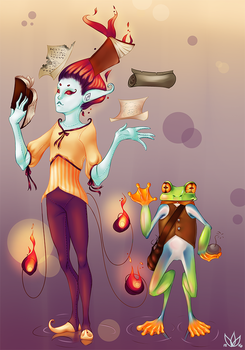 Archimedes and Incantare by GlassLotuses