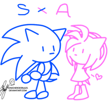 SonAmy Stick Figure by AReluctant-Hero