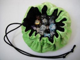 Green and black dice bag by MaxOKryn
