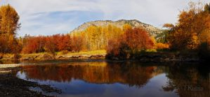 Fall Along the Entiat River Panorama  by TRunna