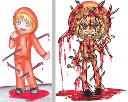 SouthPark Kenny 2008 VS 2014 by bejja