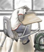 Asleep At School In Morning by osoa-akiondtuade