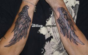 Wings - Arm - Bill Lemaster by SmilinPirateTattoo
