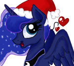 Luna wishes you a Merry Christmas! by KittenLollipop
