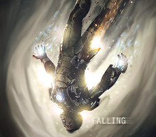 Falling Iron Man by Qonqueror99