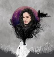 Jon and Ghost by isbeidy