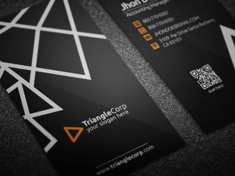 Triangle Business Card by Ja-Ghraphics