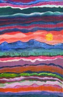 Layers of the Earth - Sunset by rebeccamichellelee