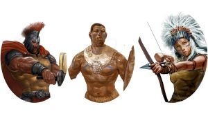 4.warriors Faces by ShelbyWinter