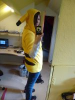 Pikachu cosplay thingy :3 by ImBehindYouuu