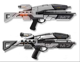 Mass Effect Assault Rifle by the-night-crawler